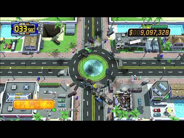Burnout Crash: Rush Hour Gameplay