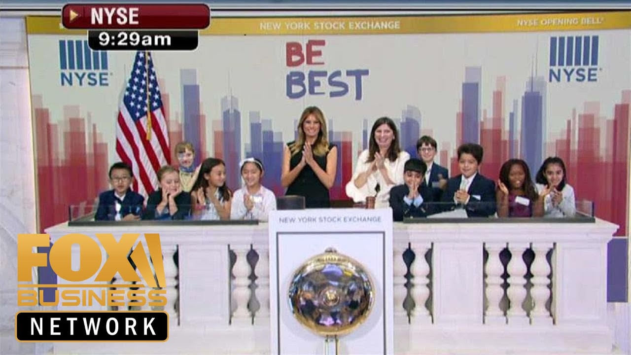 FOX Business First Lady Melania Trump rings the opening bell at the NYSE