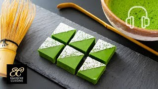 Matcha Chocolate Ganache Bars/ Nama choco Recipe 抹茶の生チョコの作り方