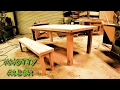 7' farmhouse table and bench (knotty alder) 1 day build