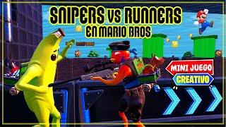 *SUPER MARIO* SNIPER VS CORREDORES (FORTNITE MINIJUEGOS)
