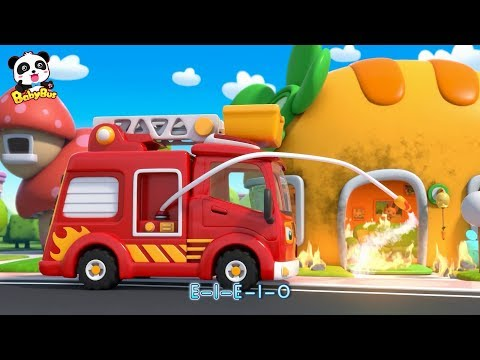 Baby Panda's BBQ Party, Breaking out of Fire | Fire Truck & Fireman | Kids Songs |  BabyBus