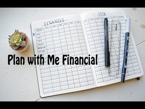 Financial Bullet Journal Set Up