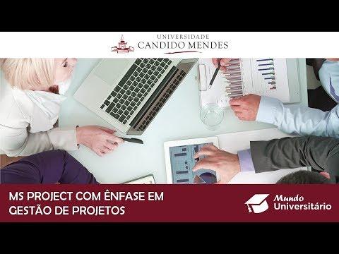MS Project com Ênfase em Gestão de Projetos: abertas inscrições para nova turma