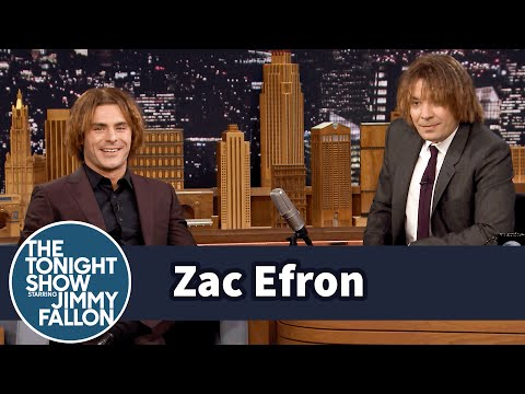 Zac Efron and Jimmy Try Out Zac's Crimped EighthGrade Hairstyle