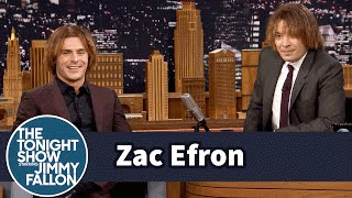 Zac Efron and Jimmy Try Out Zac's Crimped Eighth-Grade Hairstyle thumbnail