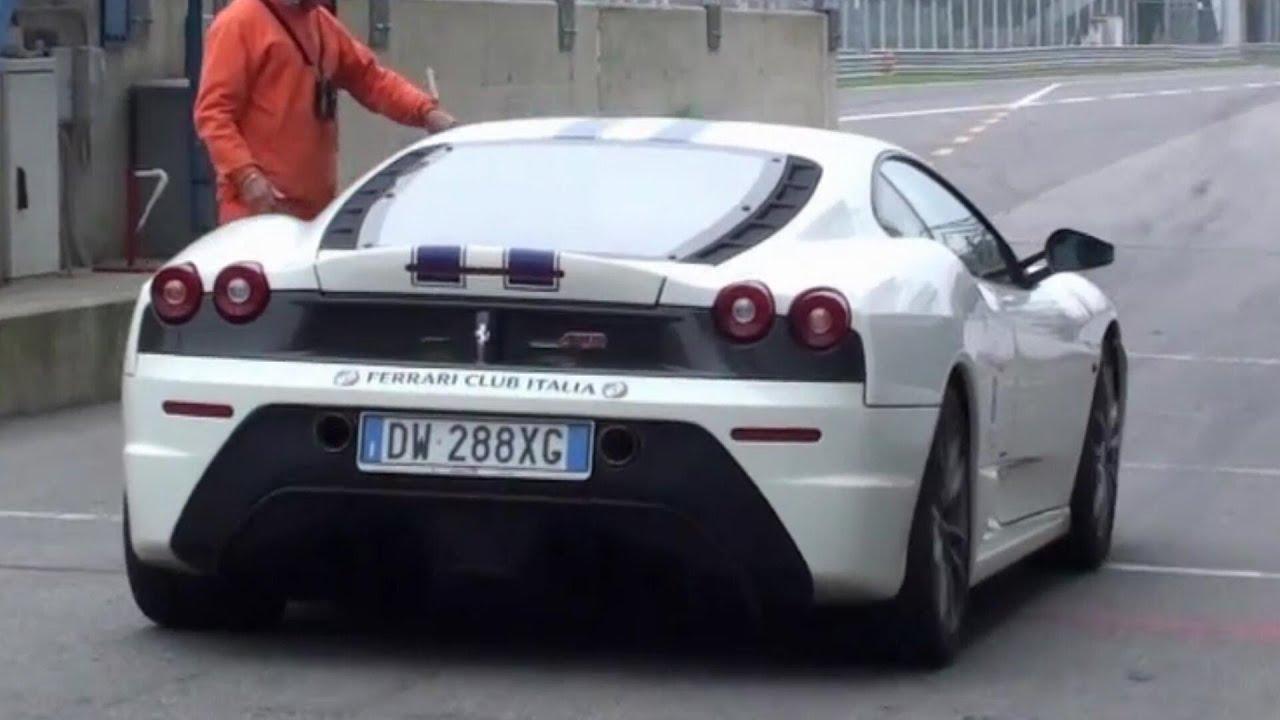 Ferrari 430 Scuderia Exhaust Note on Track! - YouTube