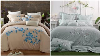 Hand embroidery : Royal and luxury embroidery bedding set for bridal // bridal bed seets