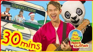 Wheels On The Bus | Plus More Nursery Rhymes and Kids Songs | The Mik Maks