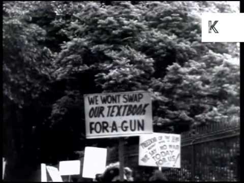 1940s Washington Peace Rally, WWII, USA Archive Footage