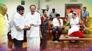 Sri Venkaiah Naidu and his family is watching #SyeRaaNarasimhaReddy at his residence with Megastar