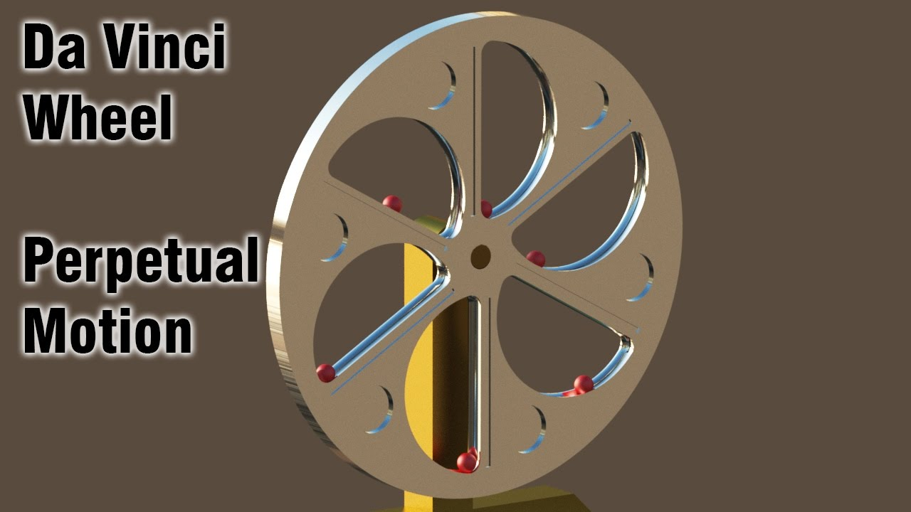 Free Energy Perpetual Motion Da Vinci Wheel Overunity Youtube