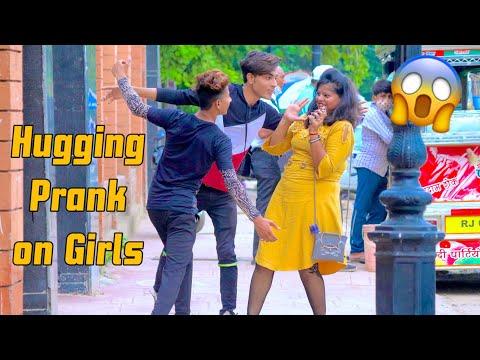 HUGGING Prank On Cute Girls😳 with TWIST | Pranks in India | #prayagraj #Allahabad #Viralpranks