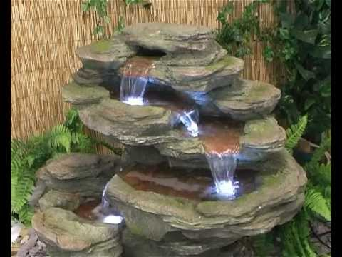 Ogen River Leap 4 Tier Cascading Water Feature with LED Lights
