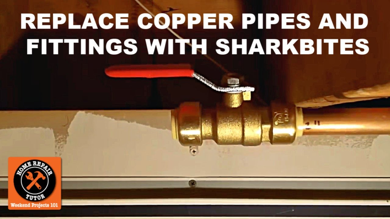 Replacing Copper Pipes And Ings With Sharkbite Push Fit Connectors You