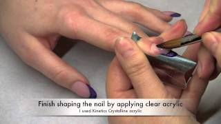 How to extend natural nail bed using cover pink acrylic. Thumbnail