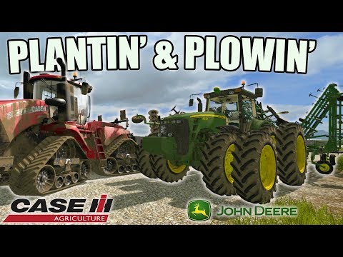 THE SQUADS FARM | HIRED HAND | PLANTING AND PLOWING | FARMING SIMULATOR 2017 thumbnail