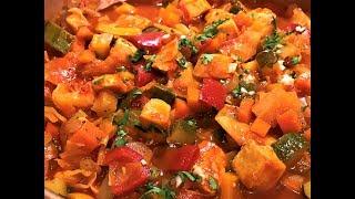 Тушёные Овощи с Куриной грудкой. Лёгкий Ужин. Vegetables with Chicken Breast