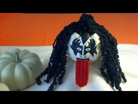 Decorating Mini Pumpkins With Curly Hair Gene Simmons