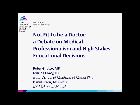 Not fit to be a Doctor: a Debate on Medical Professionalism