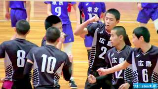 JOCバレーボール男子【東京 vs 広島★1】中学生全国大会Volleyball Boys Japan Haikyuu ハイキュー