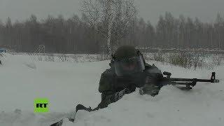 Zapadores de Rusia entrenan para volar un taller de minas subterráneo