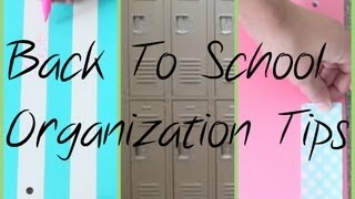 BTS → Locker and Class Organization Tips!