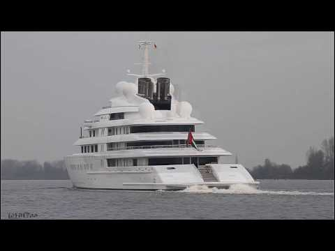 Mega Yacht AZZAM - Weser höhe Brake Unterweser / Germany