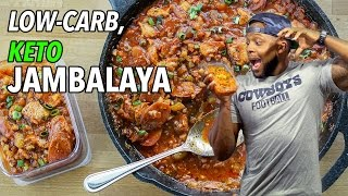 Low-Carb Keto Jambalaya Recipe  /  Jambalaya Baja en Carbos