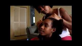 Texturizer/Texture Softener - First Time (Before/After) - How to on daughter's natural hair -