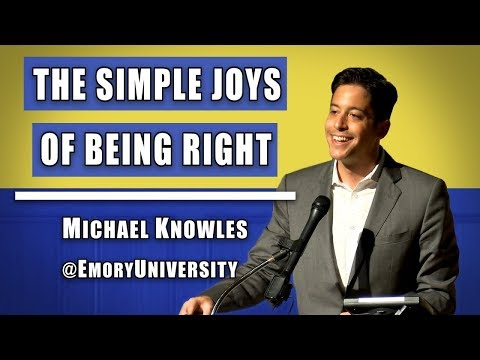 The Simple Joys of Being Right