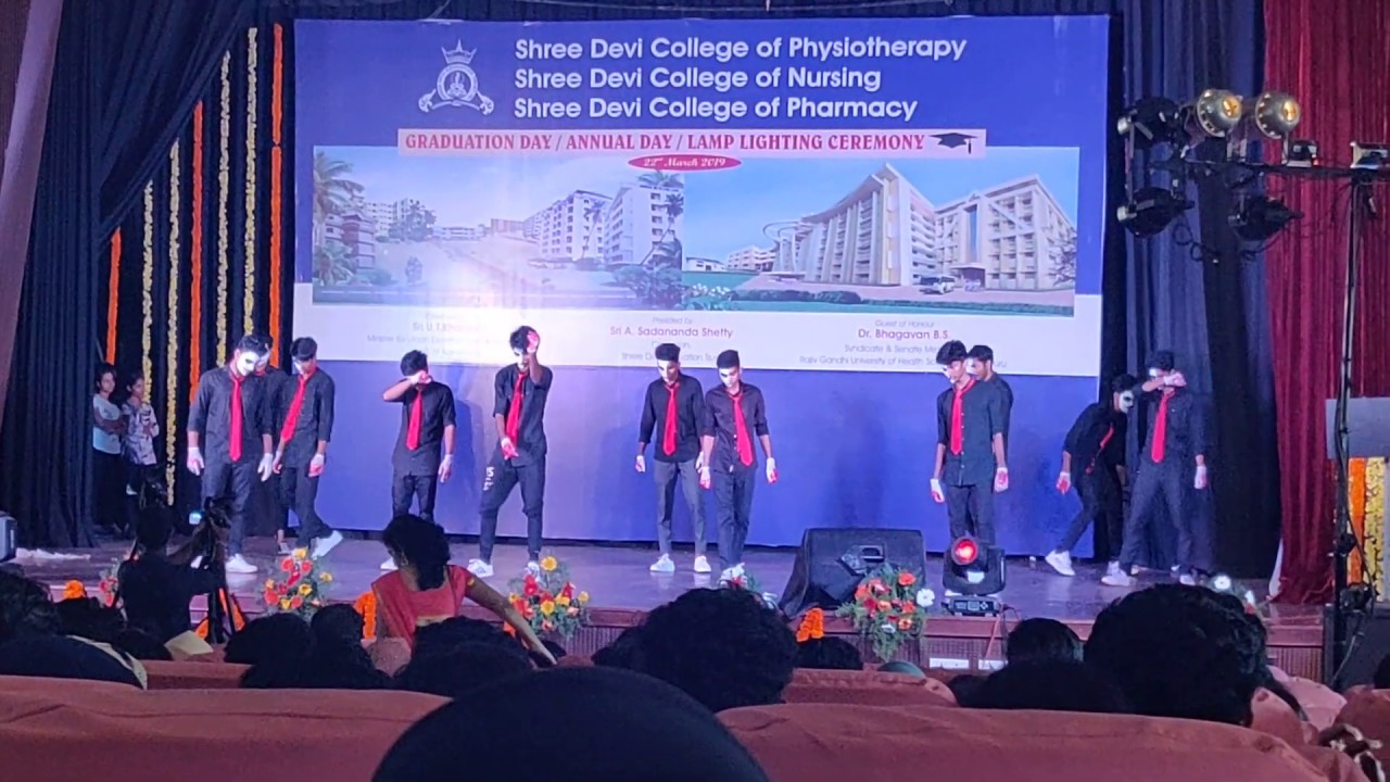 Sree Devi College Of Physiotherappy Mangalore Annual Day 2k19 1st Year Boys Dance Perfomance Youtube