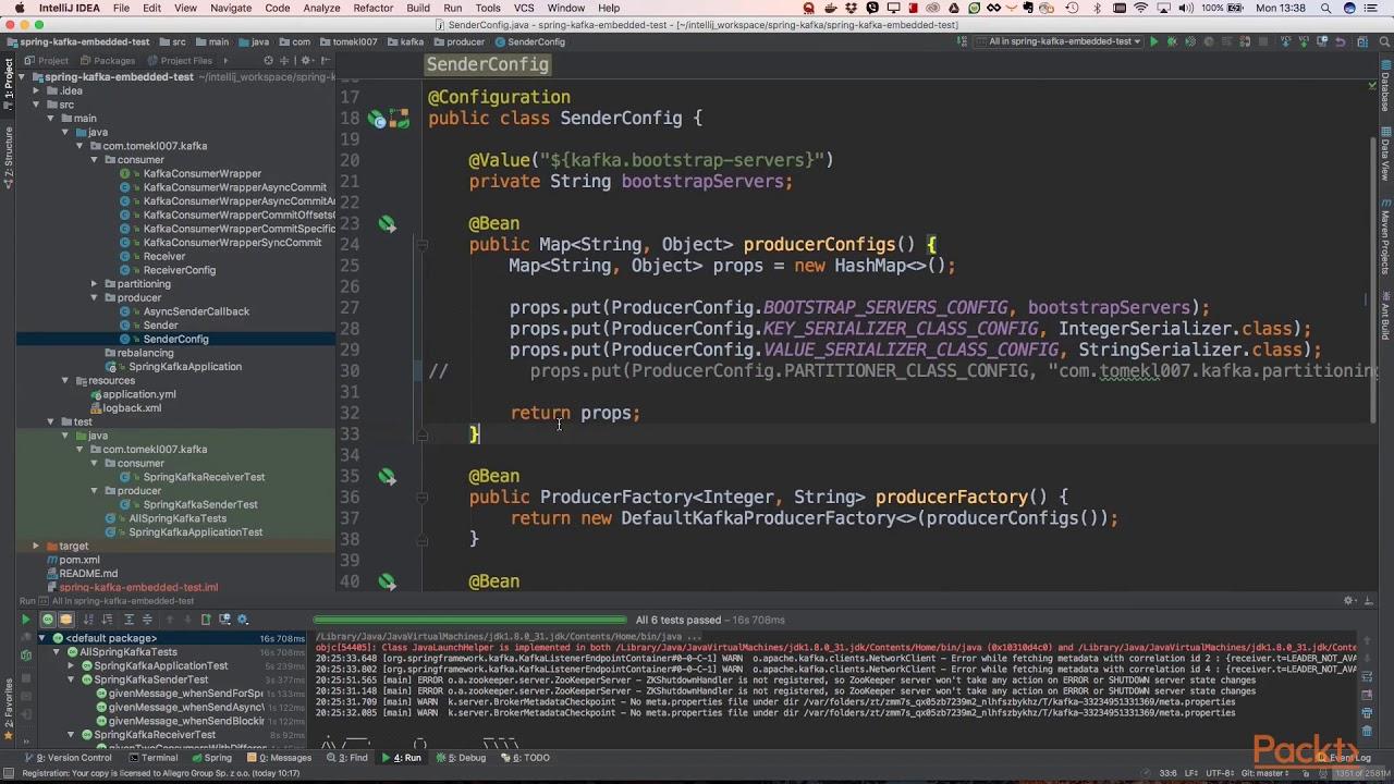 Build scalable applications with Apache Kafka: Sending Events to  Kafka-Producers API | packtpub com