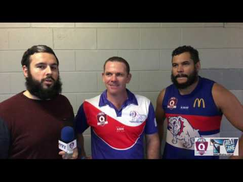 Footy in Paradise with Cam Campbell Cutters & Damien Roe, Mick Seymour from the Bulldogs