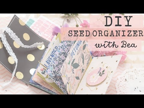 Crate Paper DIY Seed Organizer with Bea