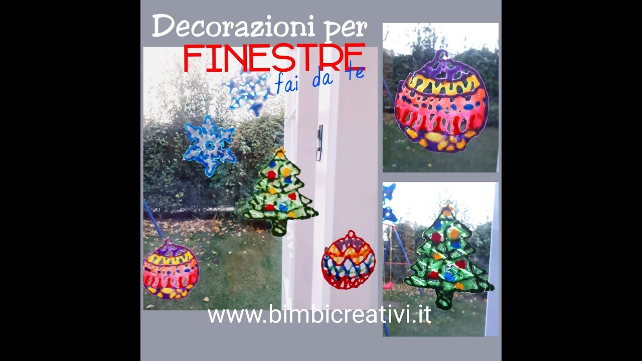 Natale Decorazioni Per Finestra Fai Da Te Bimbi Creativi Youtube