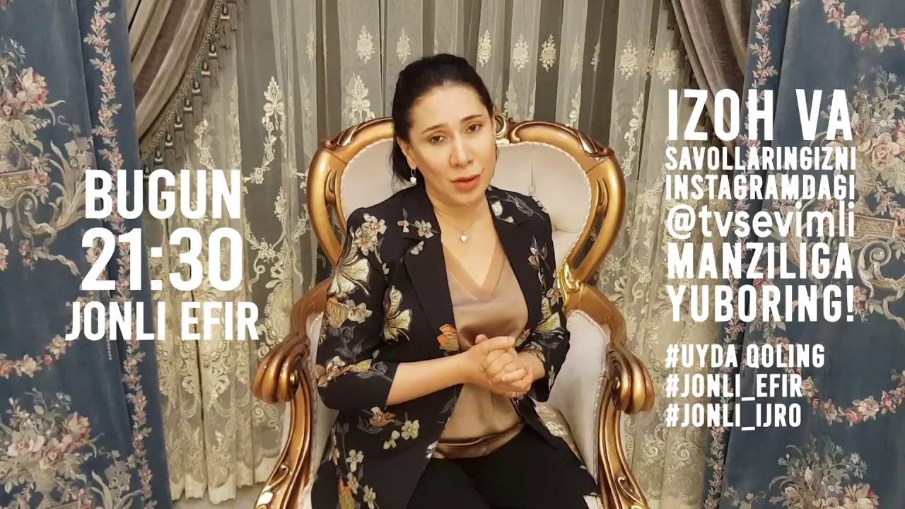 JONLI EFIR YOUTUBE.DA!!! Dildora Niyozova jonli konsert dasturi #UydaQoling