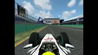 Formula 1 2009 Australian Grand Prix Jenson Button pole position lap onboard Albert Park Brawn