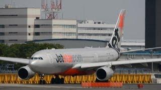 Jetstar Airways Airbus A330takeoff NaritaRWY16R!!成田空港 さくらの山!!