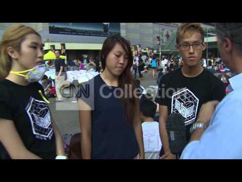 HONG KONG STUDENTS SAY PROTESTS WILL CONTINUE