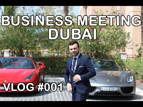 Business Meeting in Dubai - pitching products to investors - my first vlog