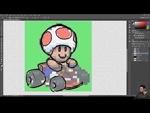 Toad Super Mario Kart Pixel Art Timelapse