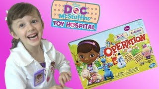 Doc Mcstuffins Fun Game with Disney Toy Collector Kids playtime!