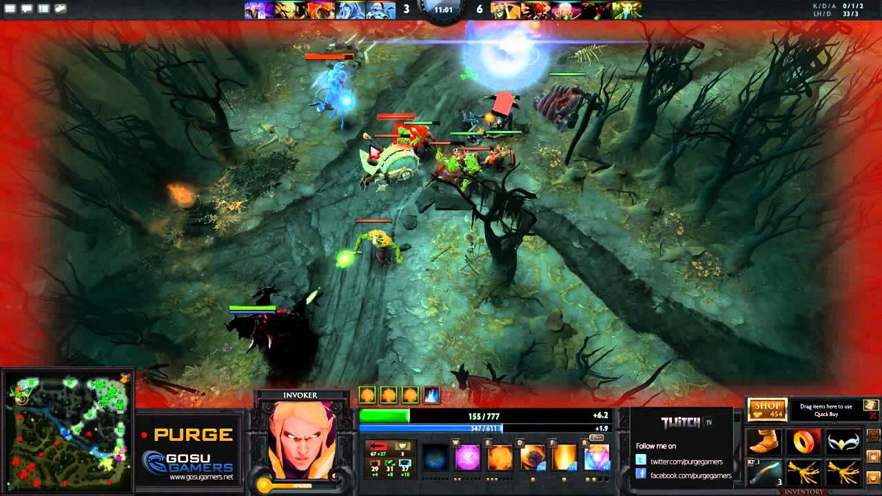 Dota 2 Purge Plays Exort Wex Invoker YouTube