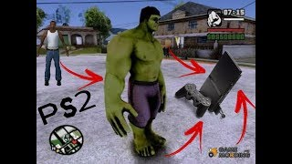 Códigos/Manhas pra você virar o Hulk no GTA San Andreas de ps2 SEM MOD