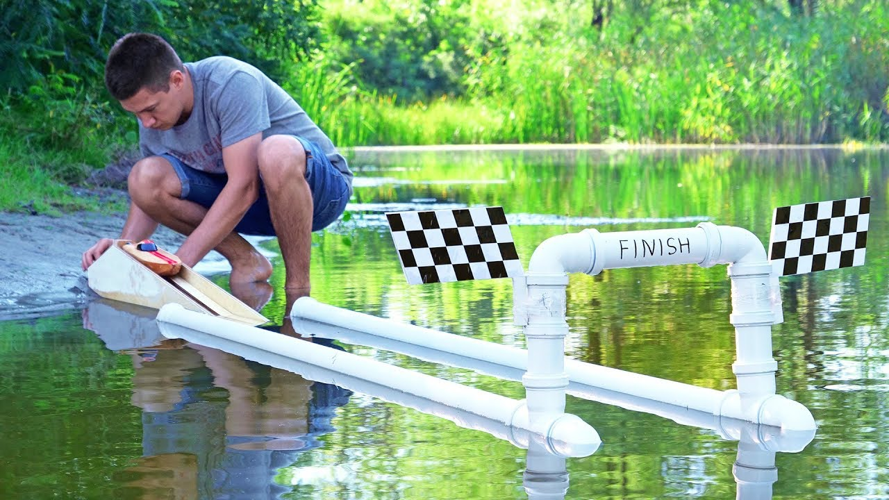 How to Make Drag Racing Boat Powered By CO2 Cartridge
