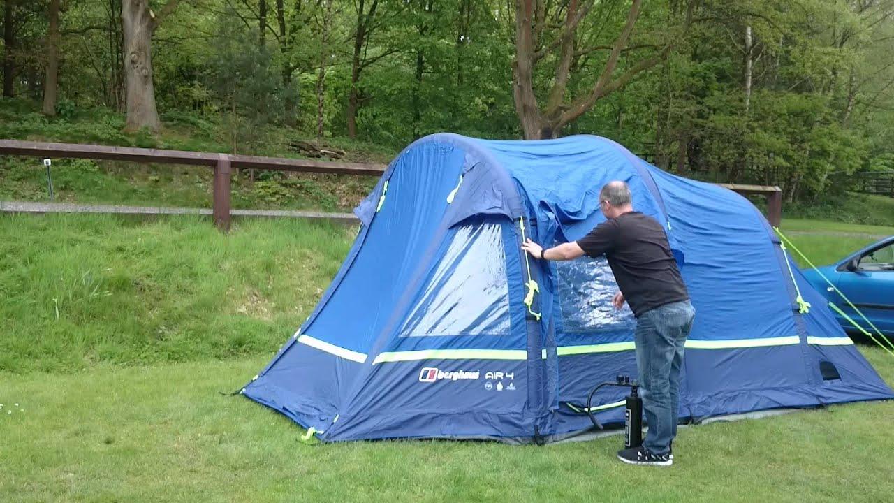 & Berghaus Air 4 tent - YouTube