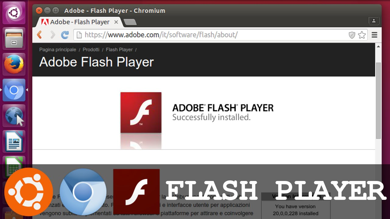 Install and Test Flash Player On Chrome Browser Web (Ubuntu) - YouTube
