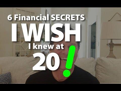 6 Financial Secrets I WISH I Knew at 20!