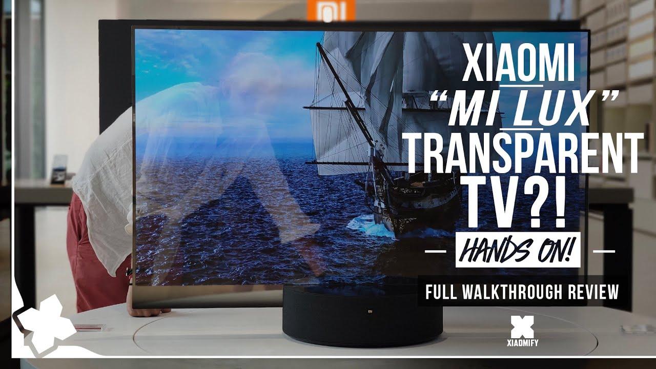 Xiaomi Lux Transparent Tv Hands On In Beijing Xiaomify Youtube